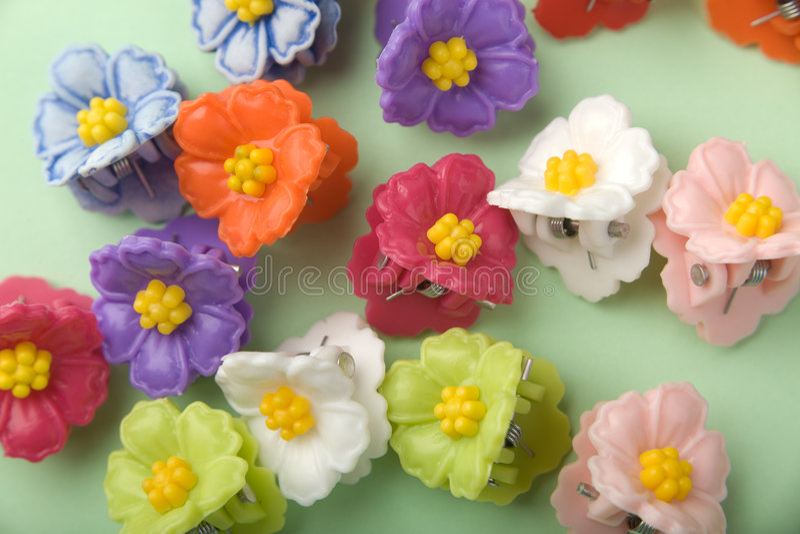 Épingles à cheveux florales photographie stock libre de droits