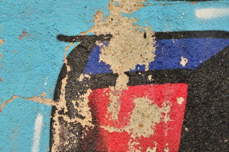 Épluchage du graffiti coloré images libres de droits