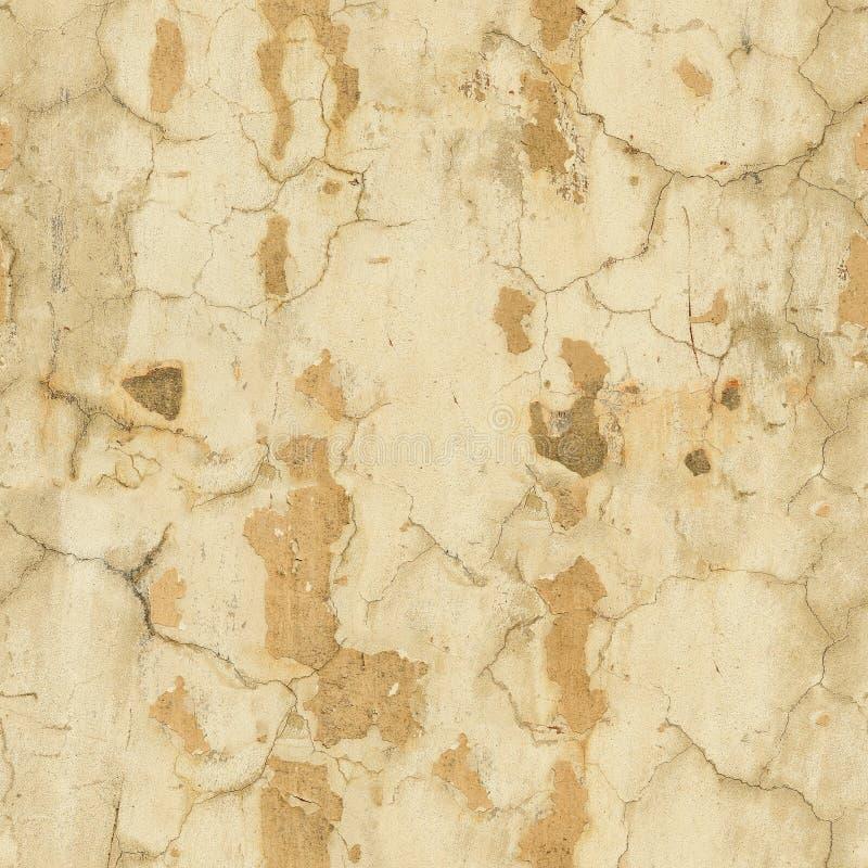 Épluchage du modèle sans couture de mur jaune image stock