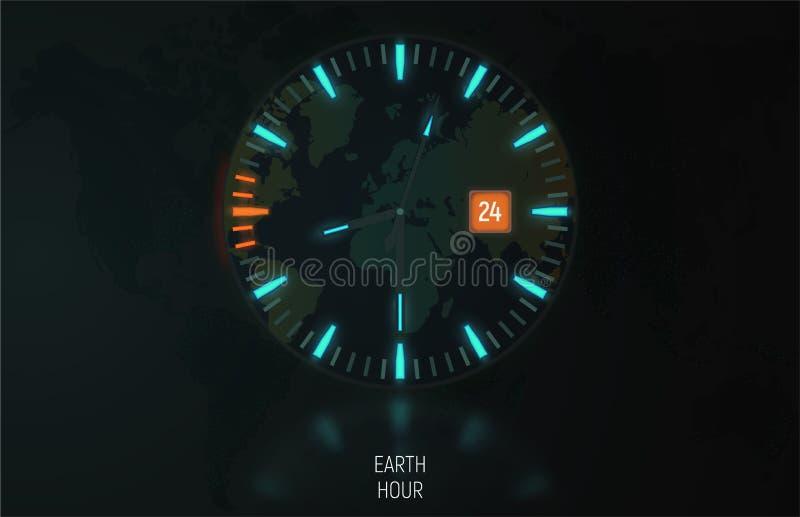 época da hora da terra ilustração do vetor