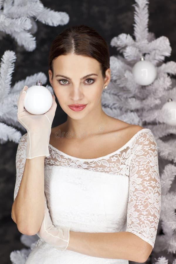 Época de Natal branca fria imagens de stock royalty free
