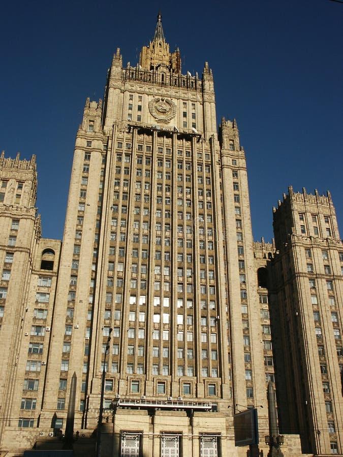 Época de Stalin do edifício (Moscovo) imagens de stock