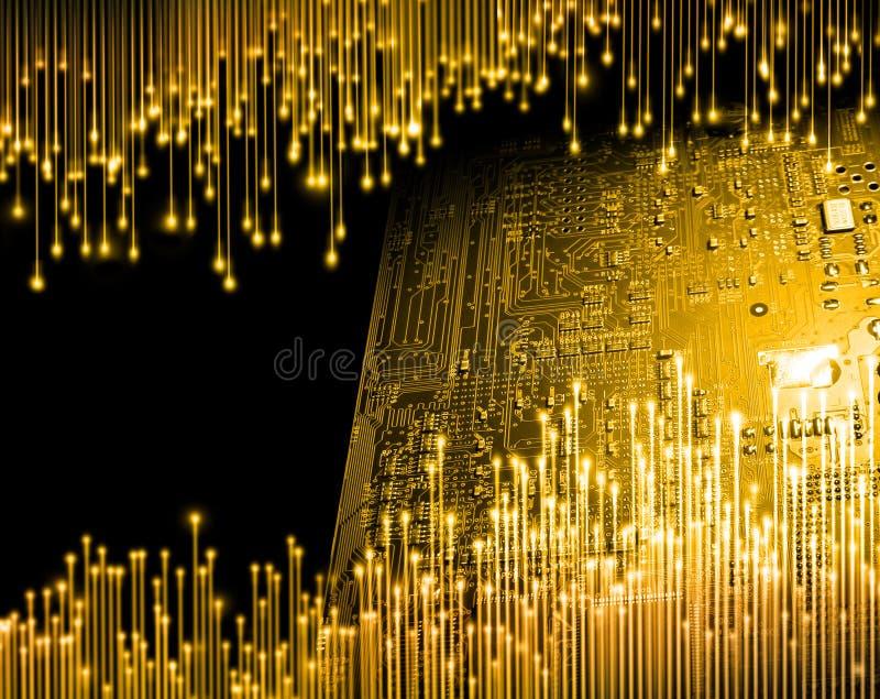 Época dorada de la informática imagenes de archivo