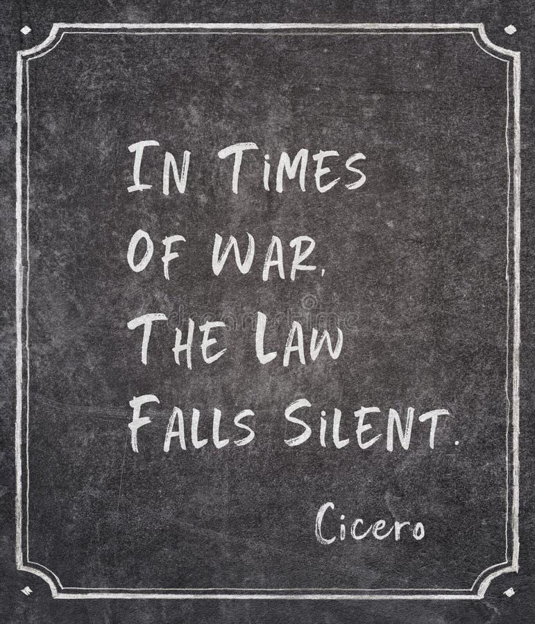 Épocas de la cita de Cicero de la guerra imagen de archivo libre de regalías