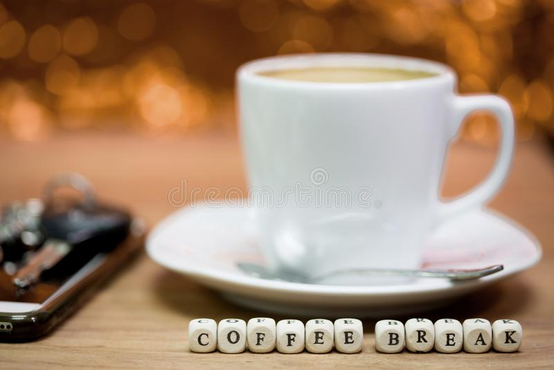 Épocas del café, descanso para tomar café fotografía de archivo libre de regalías