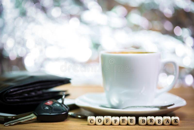 Épocas do café, ruptura de café imagem de stock