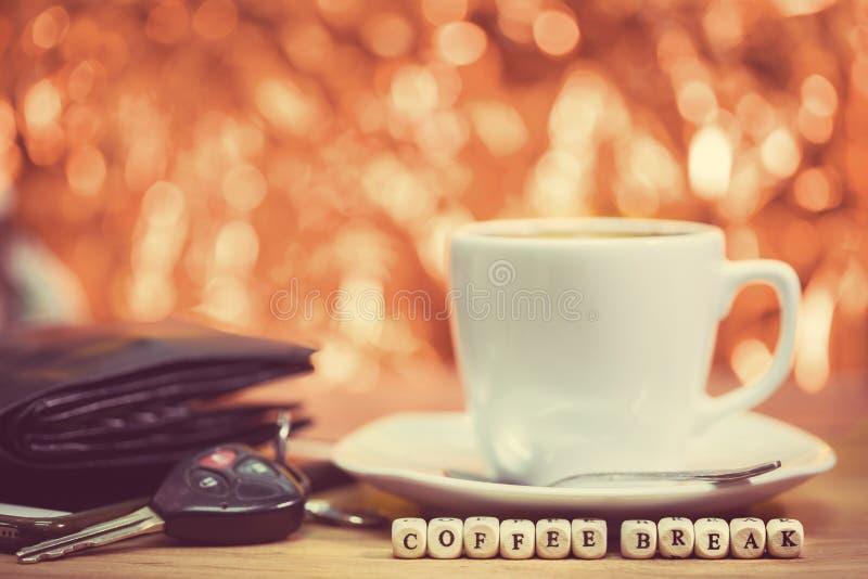 Épocas do café, ruptura de café imagem de stock royalty free