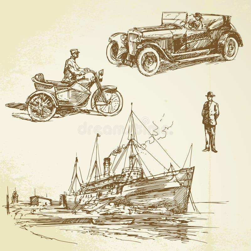 Épocas velhas ilustração royalty free