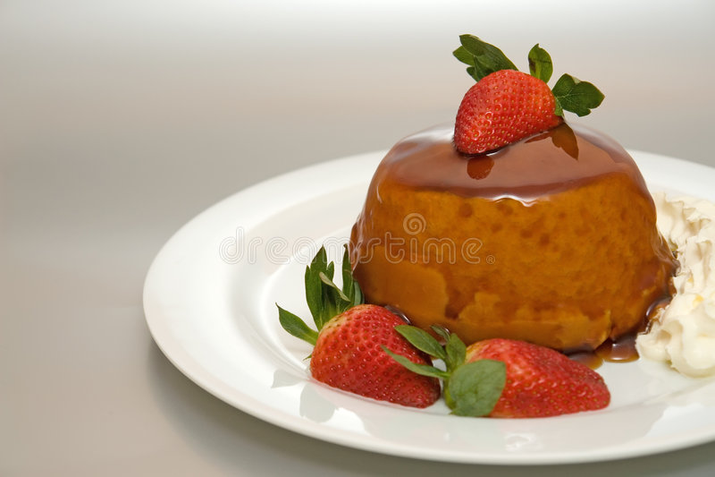 éponge de pudding de caramel photos stock
