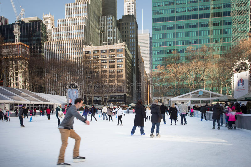 Époque de Noël de Bryant Park NYC photos libres de droits