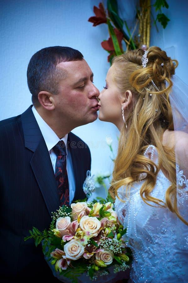 Épouse et mari de mariage images libres de droits