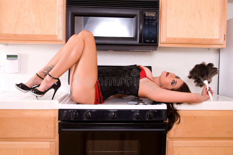 Épouse sexy de maison. photographie stock libre de droits