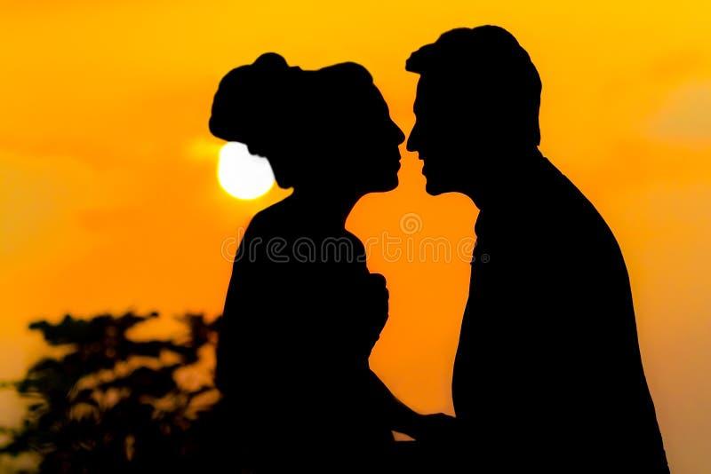 Épouser le baiser images stock