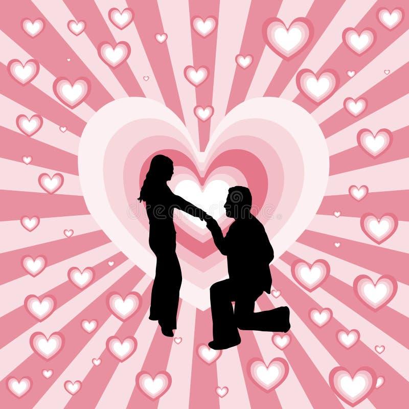 Épousez-moi ? illustration stock