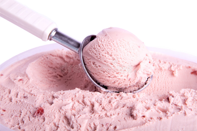 Épuisette rose de crême glacée image stock
