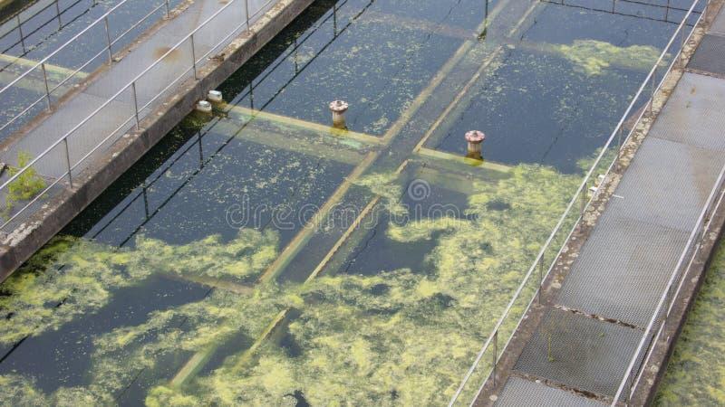épuration de photo d'effluents image stock