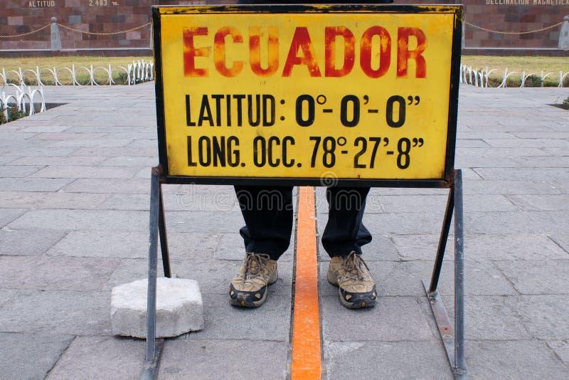 Équateur-ligne photographie stock libre de droits