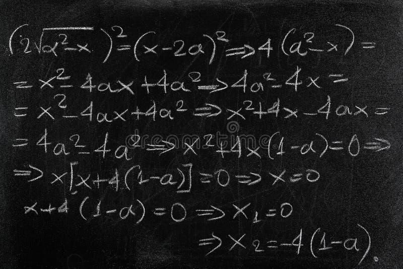 équation photo stock
