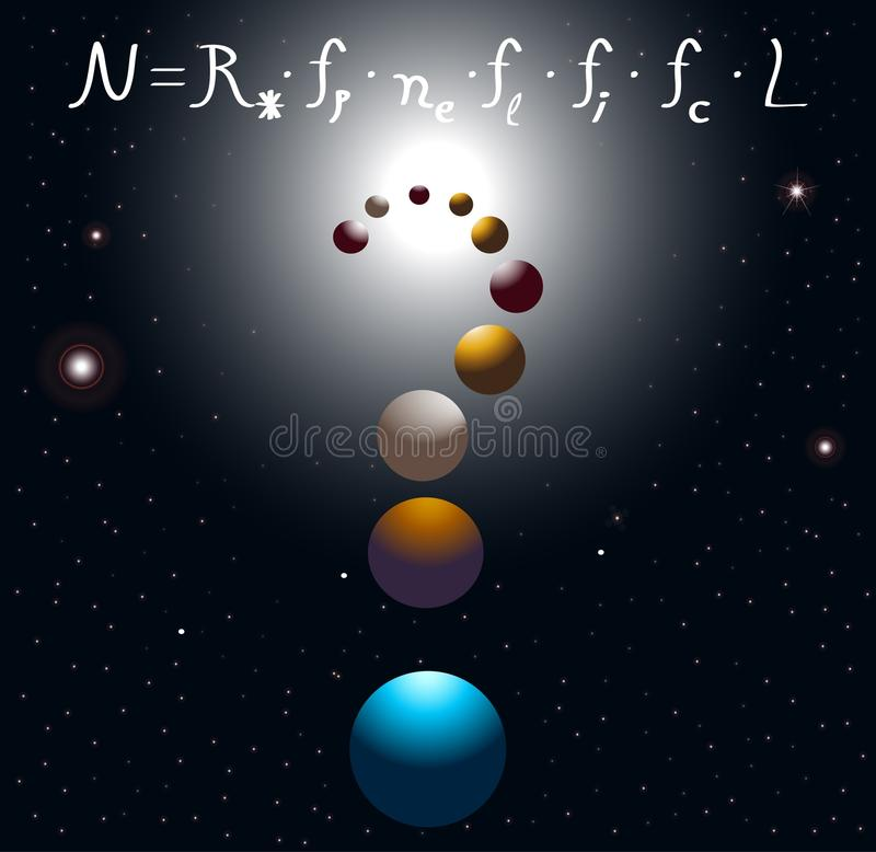 Équation de Drake illustration de vecteur