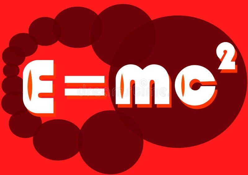Équation en rouge illustration de vecteur