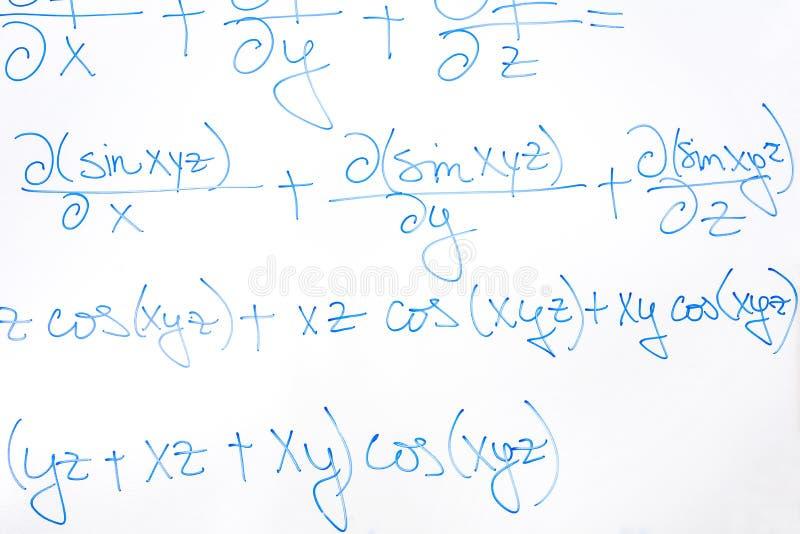 Équation mathématique compliquée images libres de droits