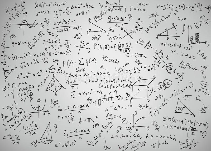Équations de mathématiques illustration stock
