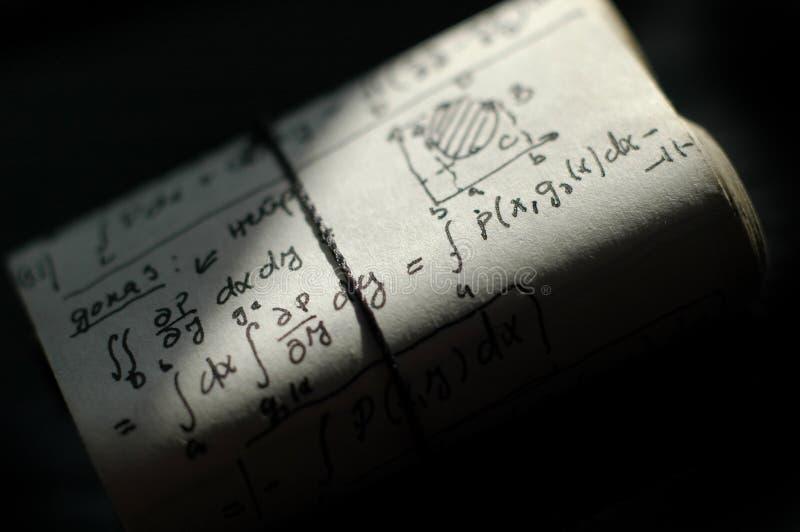 Équations de maths photos stock