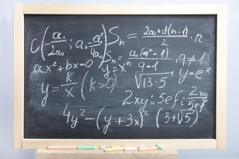 Équations et formules image libre de droits