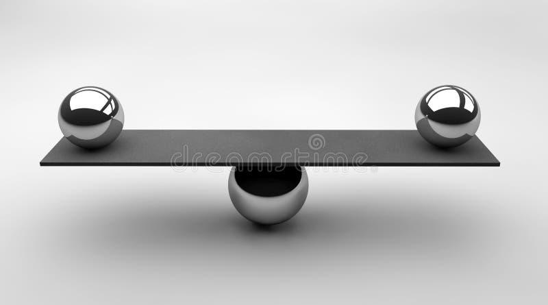 équilibré illustration de vecteur