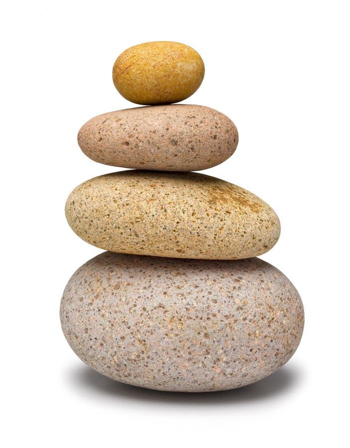 Équilibrage en pierre de la pile quatre photo stock