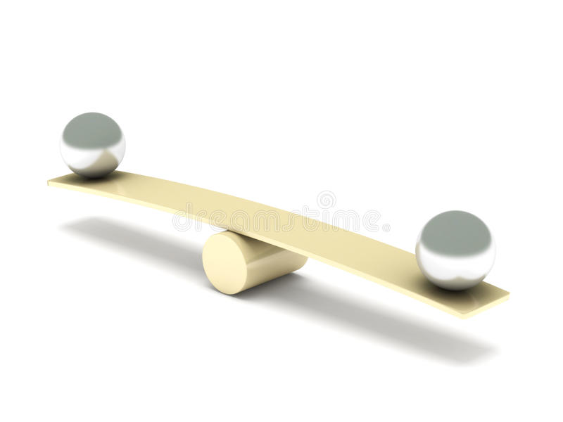 Équilibre illustration de vecteur