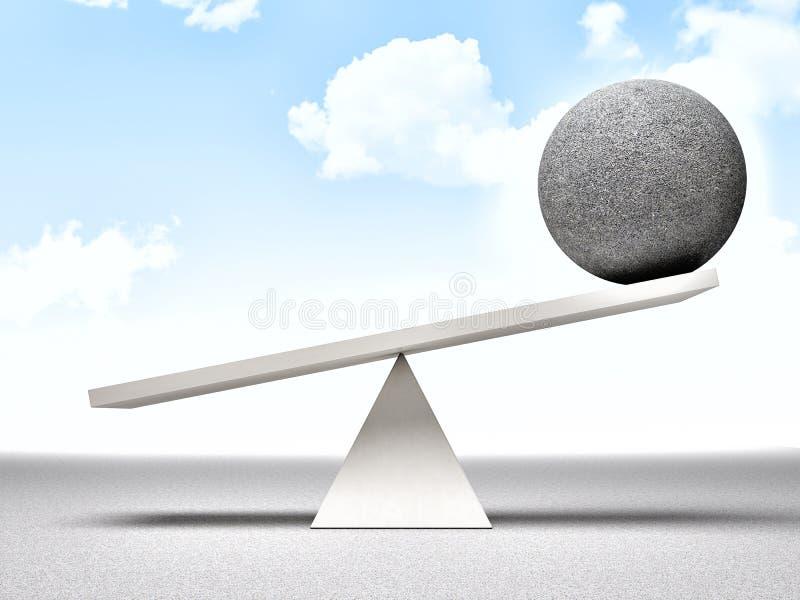 Équilibre illustration stock