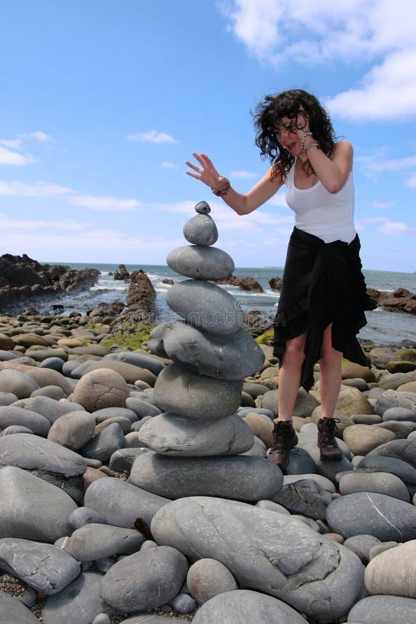 Équilibre 8 de zen images stock