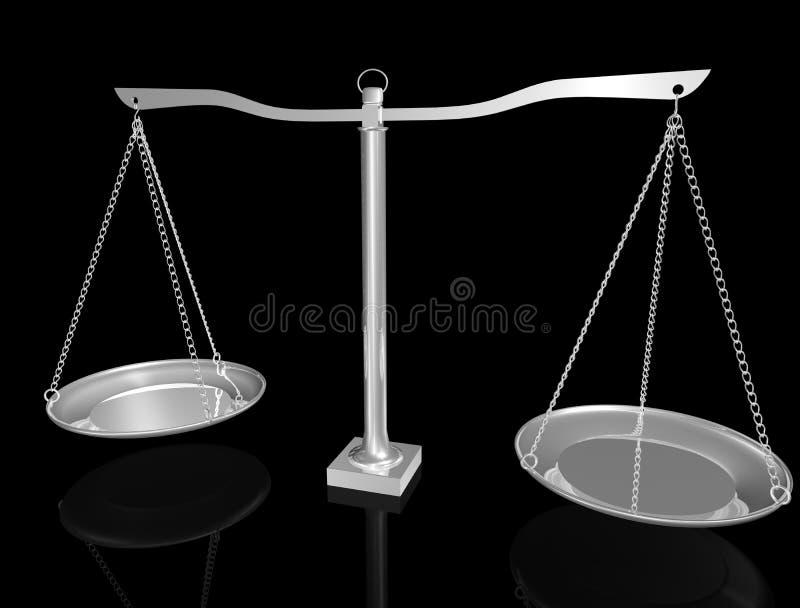 Équilibre argenté illustration de vecteur