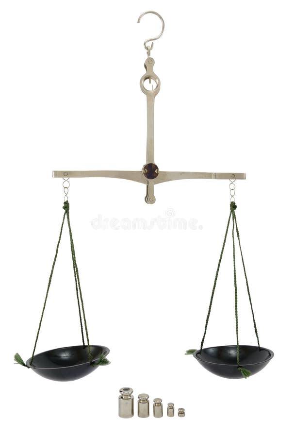 Équilibre avec le poids image stock
