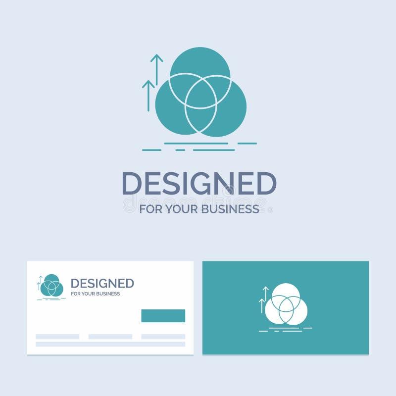 équilibre, cercle, alignement, mesure, affaires Logo Glyph Icon Symbol de la géométrie pour vos affaires Cartes de visite profess illustration libre de droits