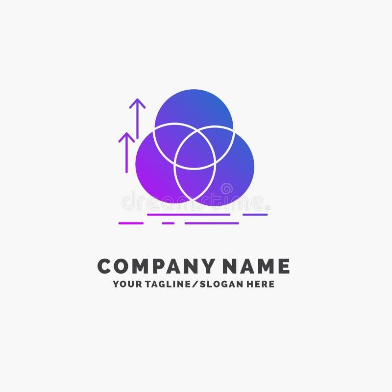 équilibre, cercle, alignement, mesure, affaires pourpres Logo Template de la géométrie Endroit pour le Tagline illustration libre de droits