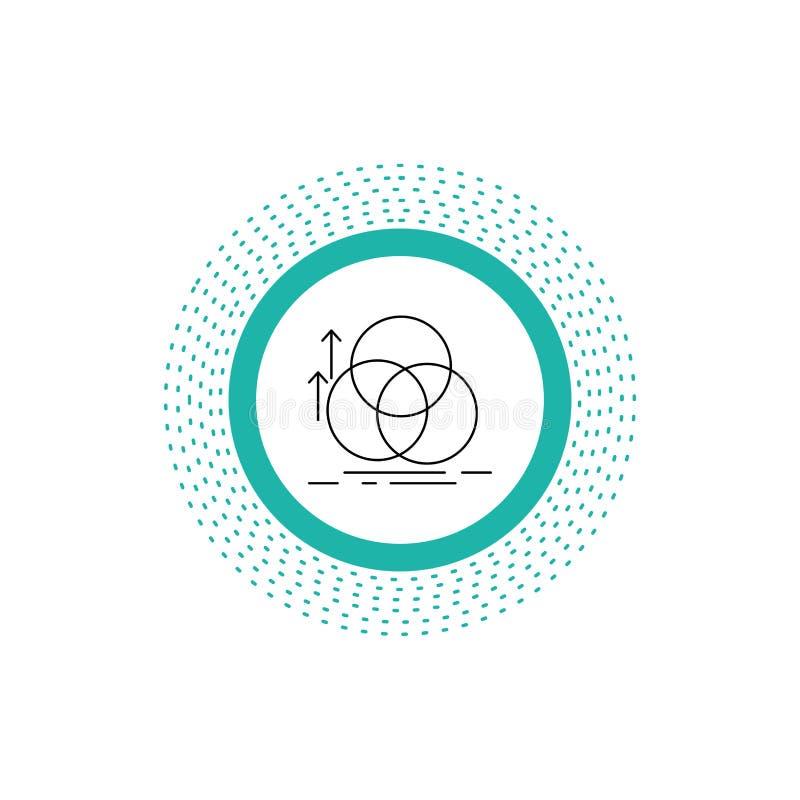 équilibre, cercle, alignement, mesure, ligne icône de la géométrie Illustration d'isolement par vecteur illustration libre de droits