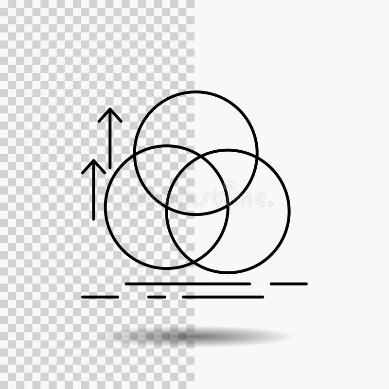 équilibre, cercle, alignement, mesure, ligne icône de la géométrie sur le fond transparent Illustration noire de vecteur d'ic?ne illustration libre de droits