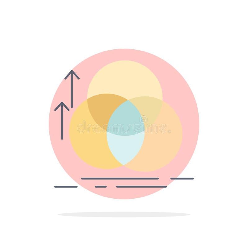 équilibre, cercle, alignement, mesure, vecteur plat d'icône de couleur de la géométrie illustration de vecteur