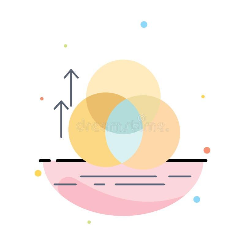 équilibre, cercle, alignement, mesure, vecteur plat d'icône de couleur de la géométrie illustration libre de droits