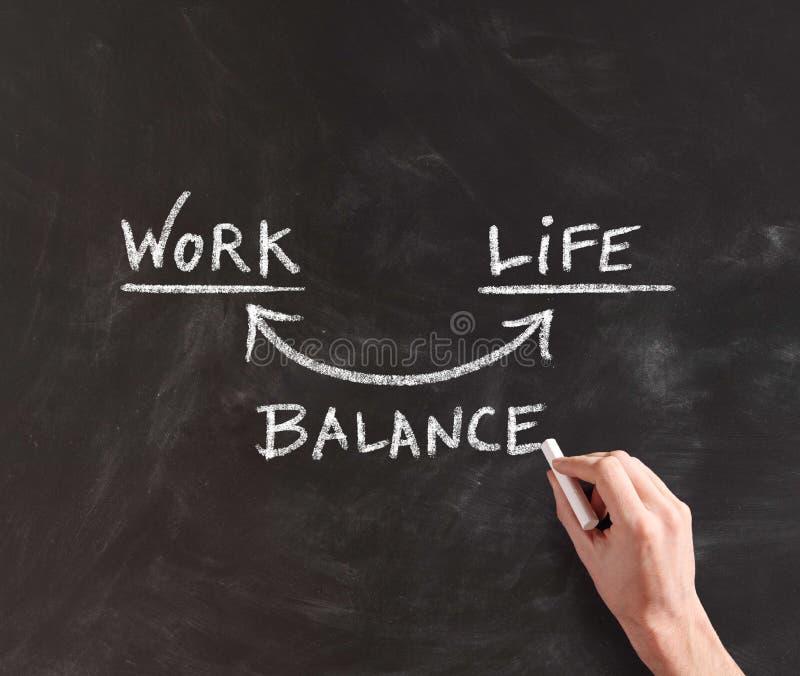 Équilibre conceptuel de travail et de vie à bord photos stock