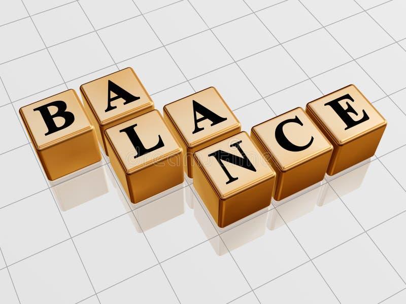 Équilibre d'or photos stock