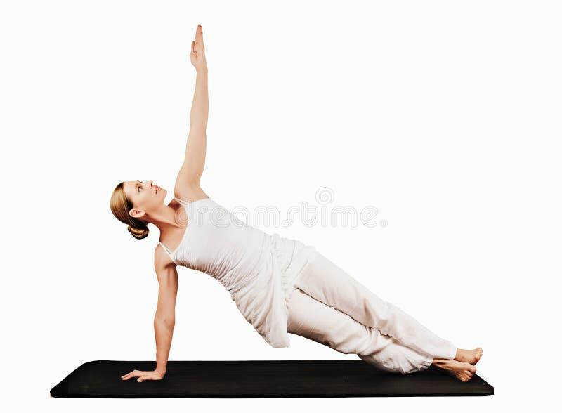Équilibre de bras (droit) - Vasisthasana I photos stock