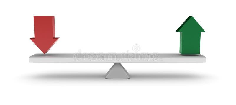 Équilibre de flèches illustration stock