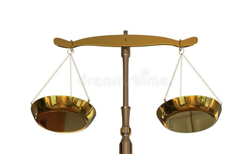 équilibre de l'illustration 3D de justice illustration libre de droits