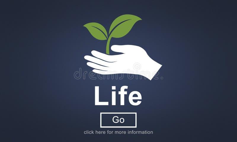Équilibre de la vie étant concept simple sain de souffle de naissance illustration de vecteur