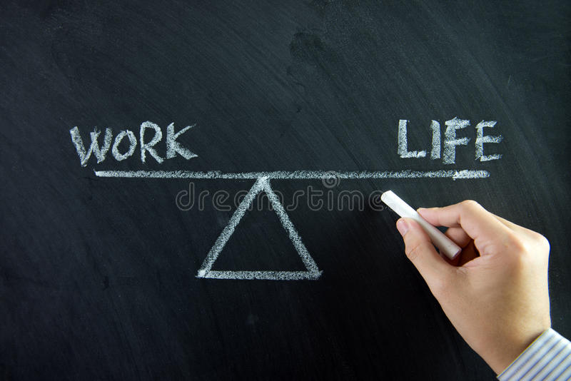 Équilibre de la vie de travail photos stock