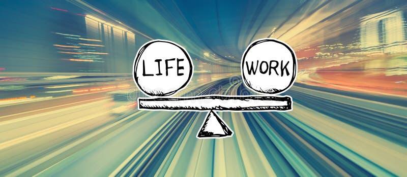 Équilibre de la vie et de travail avec la tache floue de mouvement à grande vitesse photos stock