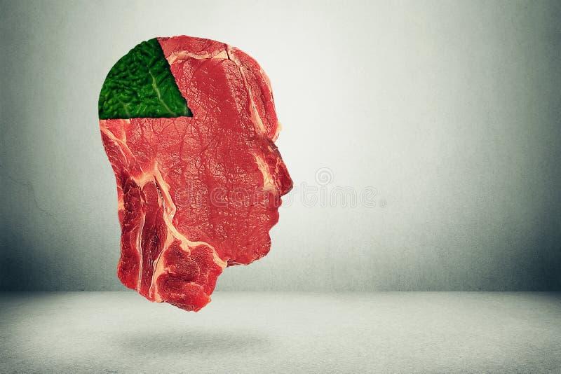 Équilibre de nourriture et choix relatifs à la santé de consommation photo stock